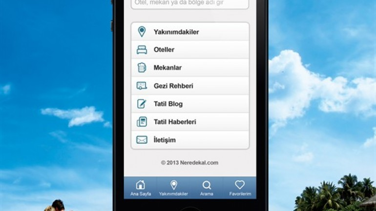 Neredekal.com Mobil Uygulaması