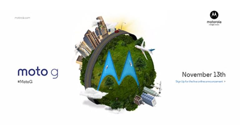 Bütçe dostu Motorola Moto G, 13 Kasım'da tanıtılacak