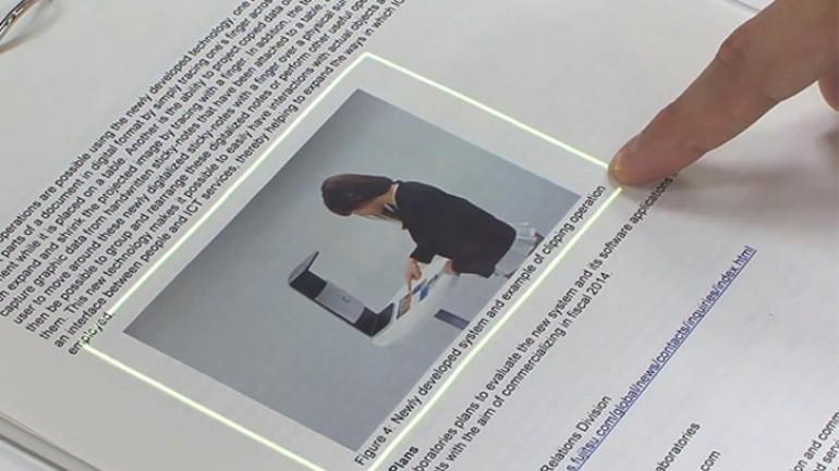Fujitsu normal bir kağıdı dokunmatik ekrana dönüştürüyor