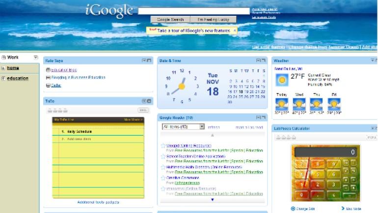 Google'ın kişiselleştirilmiş ana sayfa servisi iGoogle kapandı