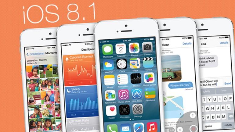 iOS 8.1 20 Ekim'de Çıkıyor