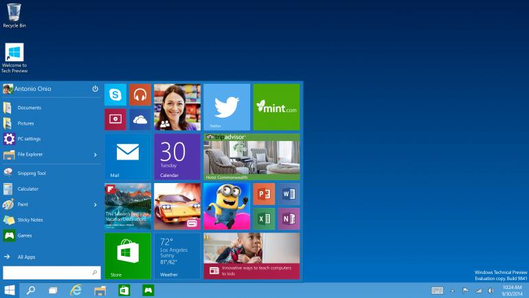 Microsoft Windows 10 Ücretsiz