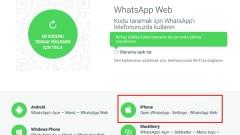 """WhatsApp Web artık """"iPhone"""" desteğine sahip"""