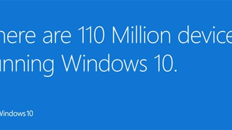 Microsoft: 100 milyon cihaza Windows 10 yüklendi