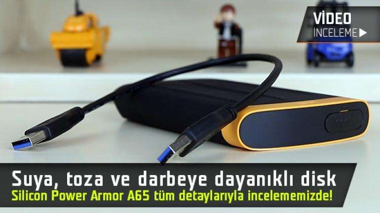 """Suya, toza ve darbeye dayanıklı taşınabilir disk testte """"Silicon Power Armor A65 inceleme videosu"""""""