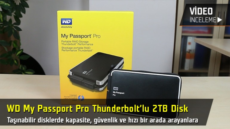 "WD My Passport Pro inceleme videosu ""Thunderbolt'lu 2TB taşınabilir disk"""