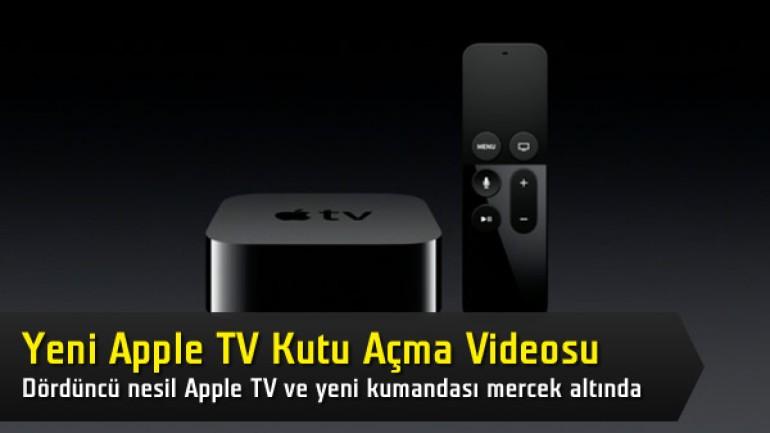 Yeni Apple TV'nin kutu içeriğine yakından bakıyoruz