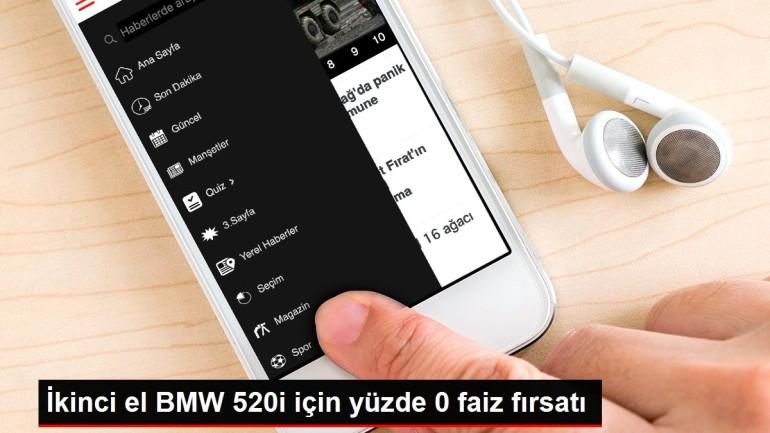 İkinci el BMW 520i için yüzde 0 faiz fırsatı