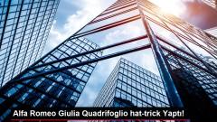 Alfa Romeo Giulia Quadrifoglio hat-trick Yaptı!