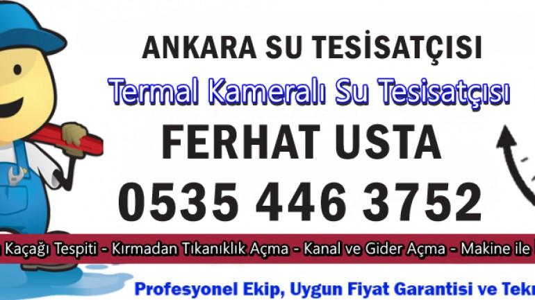 Ankara Su Tesisatçısı Web Sistemi
