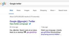 """Google, masaüstü arama sonuçlarına """"Twitter"""" entegrasyonu getirdi"""