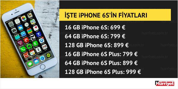 iphone6s fiyat