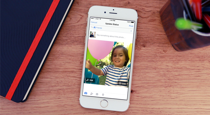 Facebook, Apple'ın canlı fotoğraflar formatına destek vermeye başladı